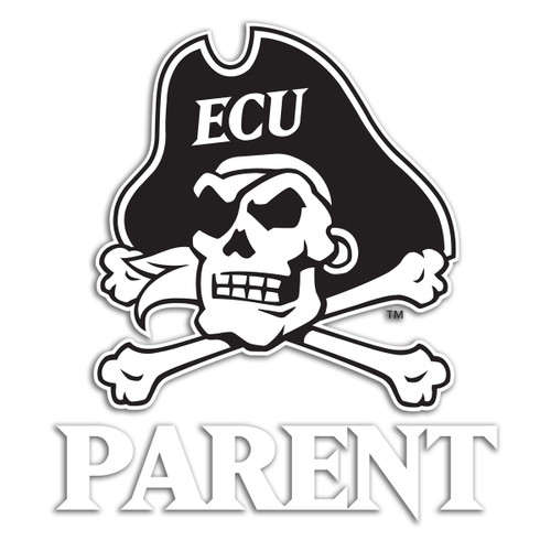 Black & White Jolly Roger Parents Decal