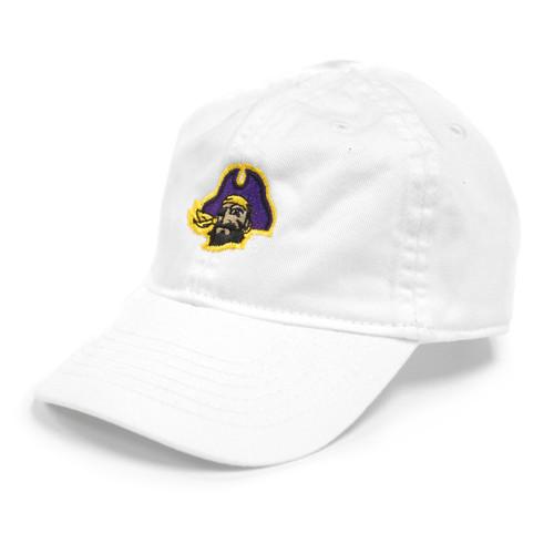 Toddler White Pirate Head Cap