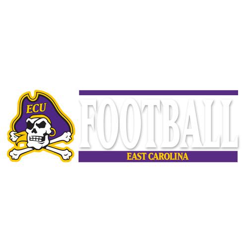 East Carolina Football Bar Decal