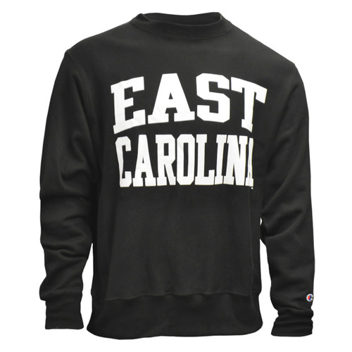 Black Reverse Weave East Carolina Heavyweight Crew