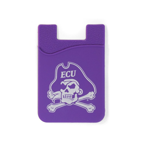 Purple Jolly Roger Cell Phone Card Holder