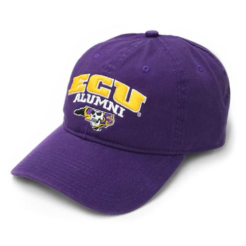 Purple ECU Alumni Arch Cap