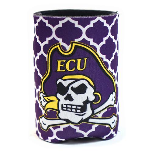 Purple Quatrafoil Jolly Roger Koozie