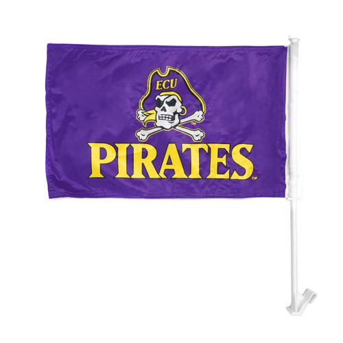 Purple Pirates & Jolly Roger Car Flag