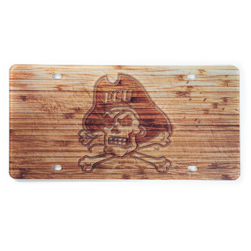 Acrylic Bamboo Design Jolly Roger License Plate