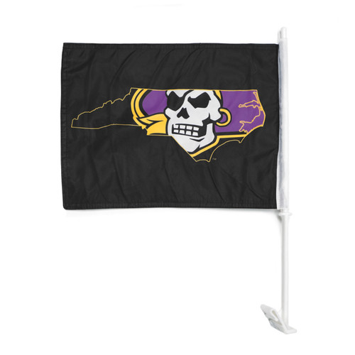 Black Pirate Nation Car Flag