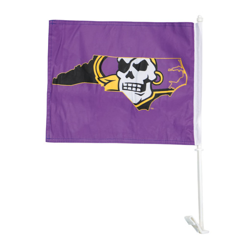 Purple Pirate Nation Car Flag