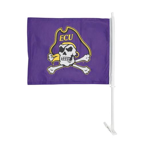 Purple Jolly Roger Car Flag