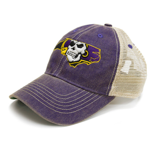 Vintage Purple Pirate Nation Trucker Cap