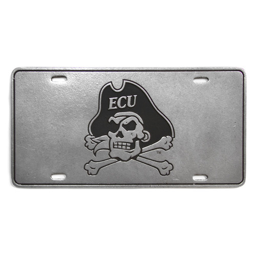 Pewter Jolly Roger License Plate