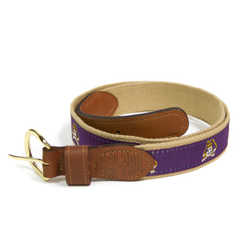 Purple Leather & Canvas Jolly Roger Belt