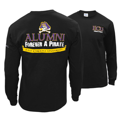 Black Long Sleeve Forever A Pirate Alumni Tee