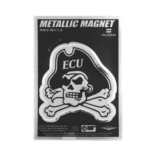 Metallic Jolly Roger Magnet