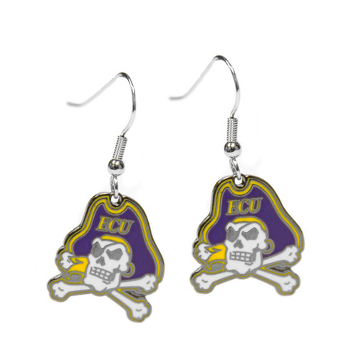 Stamped Jolly Roger Hanging Earrings