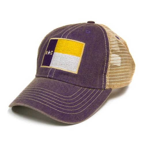 Purple North Carolina Flag Trucker Cap