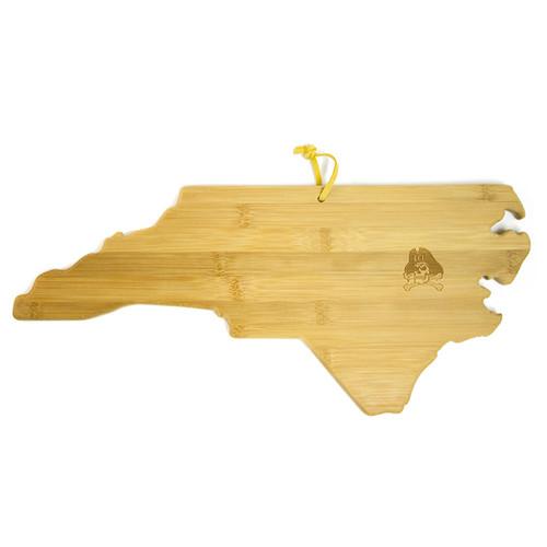 North Carolina Cutting Board with Jolly Roger