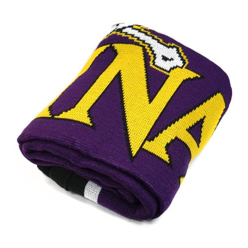Purple East Carolina Knit Blanket
