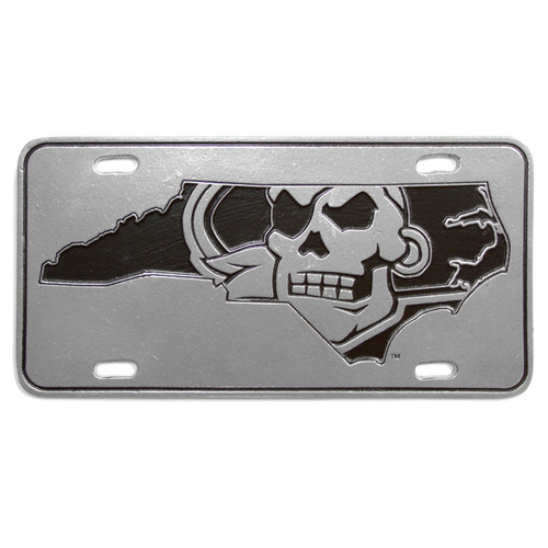 Pewter Pirate Nation License Plate