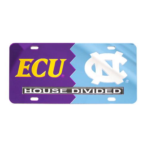 House Divided ECU vs UNC License Plate