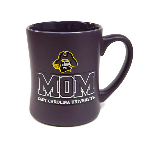 Deep Matte Purple ECU Mom Coffee Mug