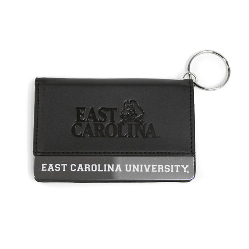 Black Leatherette East Carolina ID Holder Wallet