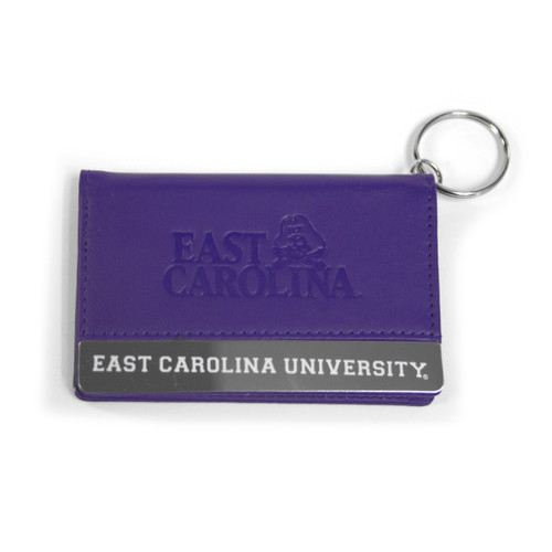 Purple Leatherette East Carolina ID Holder Wallet
