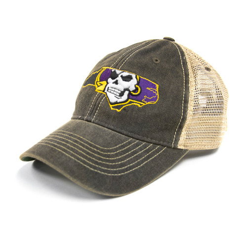 Vintage Black Pirate Nation Trucker Cap