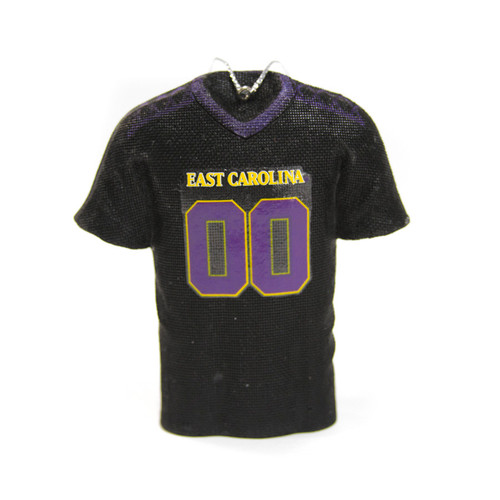 Black East Carolina Football Jersey Ornament