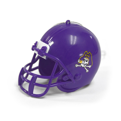 Purple Plastic ECU Football Helmet Ornament