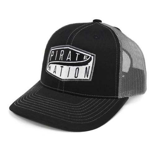 Black Pirate Nation Patch Trucker Cap