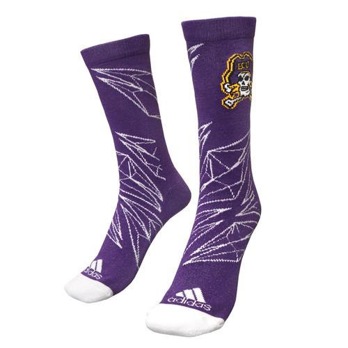 Purple Fractal Diamonds Jolly Roger Socks