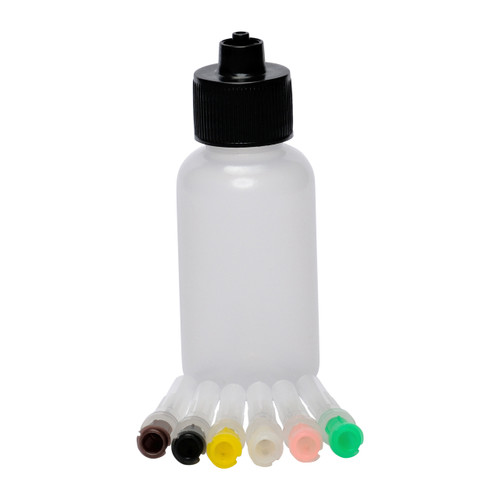 Luer Lock Bottle with 6 Metal Tips