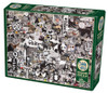 Rainbow Project: Black and White Animals - 1000pc Jigsaw Puzzle by Cobble Hill