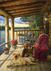 Cabin Porch - 1000pc Jigsaw Puzzle by Jack Pine