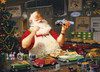 Santa Painting Cars - 1000pc Jigsaw Puzzle by Cobble Hill