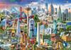 North America Landmarks - 1500pc Jigsaw Puzzle by Educa
