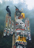 Totem Pole in the Mist - 1000pc Jigsaw Puzzle by Cobble Hill (discon-22558)