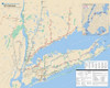 NYC Suburbs Train Map - 500pc Jigsaw Puzzle by New York Puzzle Co. (discon)