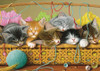 Kittens in Basket - 35pc Tray Puzzle by Cobble Hill
