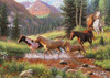 Horse Stream - 35pc Tray Puzzle by Cobble Hill