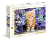 Ginger Cat in Flowers - 500pc Jigsaw Puzzle by Clementoni