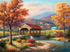 Jigsaw Puzzles - Fall at the Covered Bridge