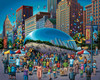 Chicago Bean - 500pc Jigsaw Puzzle by Dowdle
