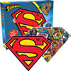 Superman Logo - 600pc Double-sided Shaped Jigsaw Puzzle by Aquarius