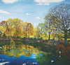 Haworth: Autumn Reflections - 1000pc Jigsaw Puzzle by Pomegranate