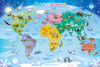 World Map - 35pc Tray Puzzle by Cobble Hill
