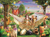 Kittens, Puppies and Butterflies - 500pc Jigsaw Puzzle by SunsOut