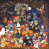 Cats and Dogs on Halloween - 500pc Jigsaw Puzzle By Sunsout