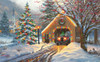 Covered Bridge at Christmas - 300pc Jigsaw Puzzle By Sunsout