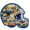 Michigan Helmet - 500pc Shaped Jigsaw Puzzle by Masterpieces